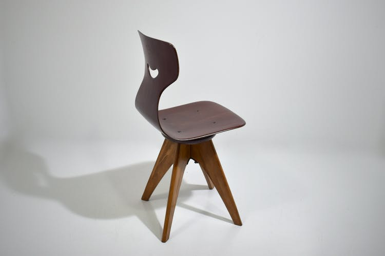 Chaise tournante Pagwood A. Stegner pour Pagholz Flototto, 1960