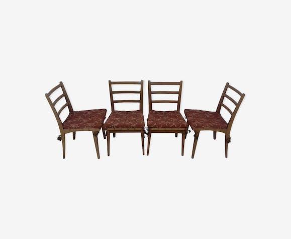 Ensemble de quatre chaises de salle à manger par Jan Vaněk, 1955