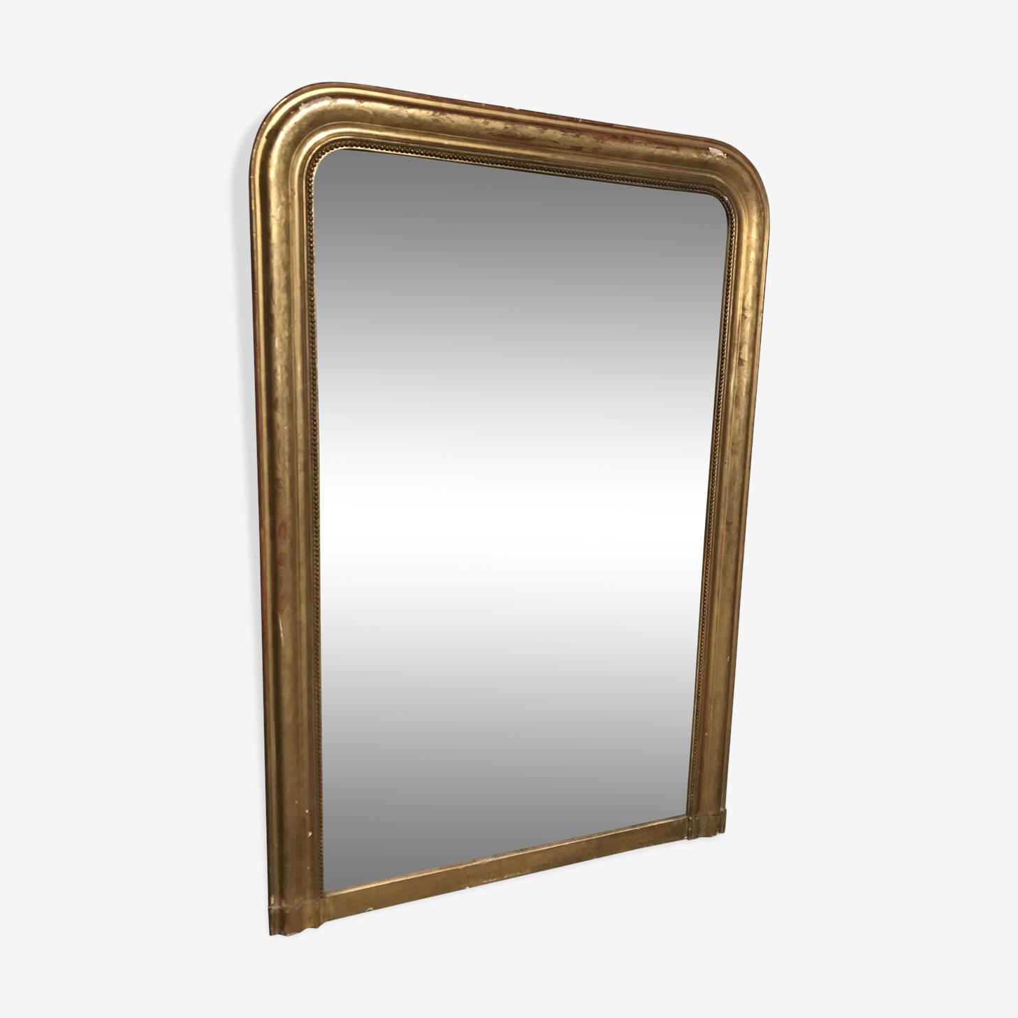 Miroir Louis Philippe feuille d'or, 95x141cm