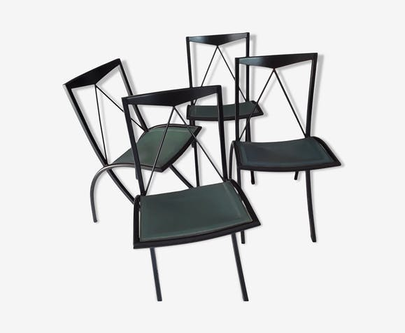 Lot de 4 chaises pliantes designer italien Cattelan