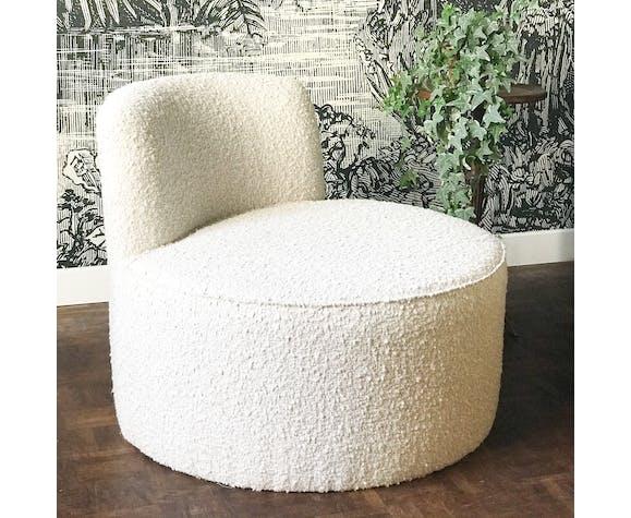 Chauffeuse en laine bouclée