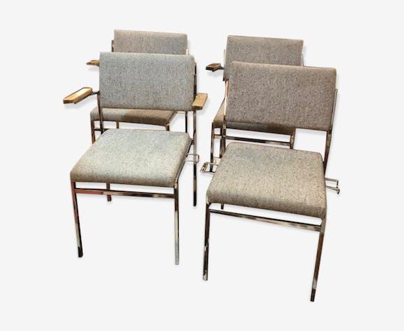 4  chaises tissus