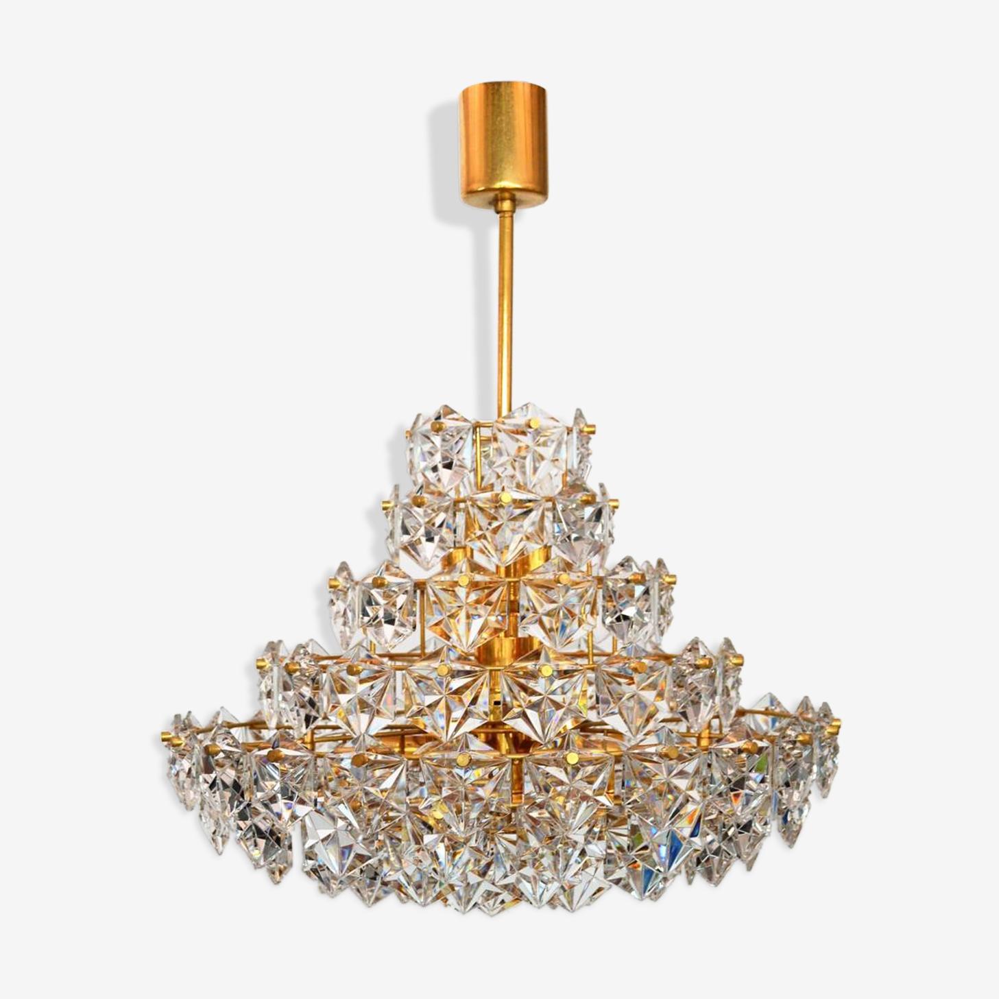 S Kinkeldey 1970 crystal chandelier