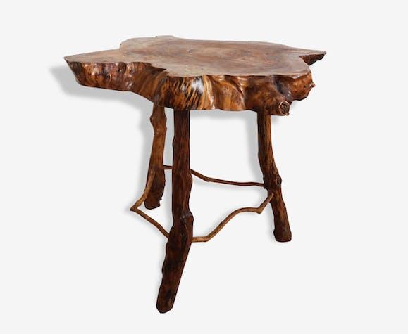 Table D Appoint En Souche Ou Tronc D Arbre 1960 Vintage
