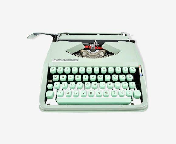 Machine à écrire hermes baby vert tilleul vintage clavier qwertz