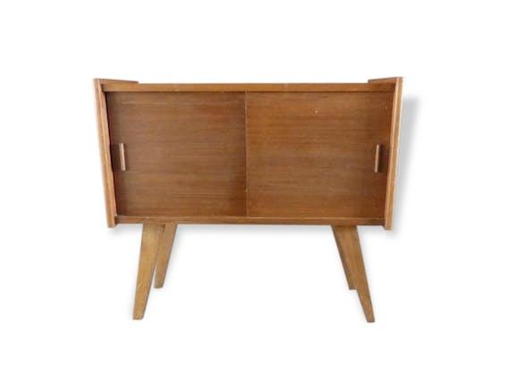 Petite commode vintage années 60 - bois (Matériau) - bois (Couleur ...