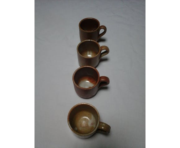 4 sandstone cups