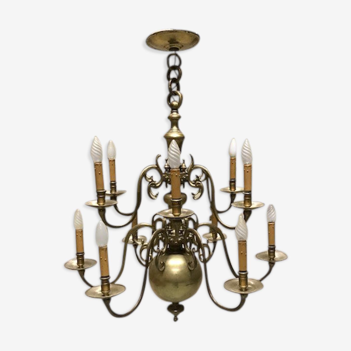 Lustre de style hollandais en bronze