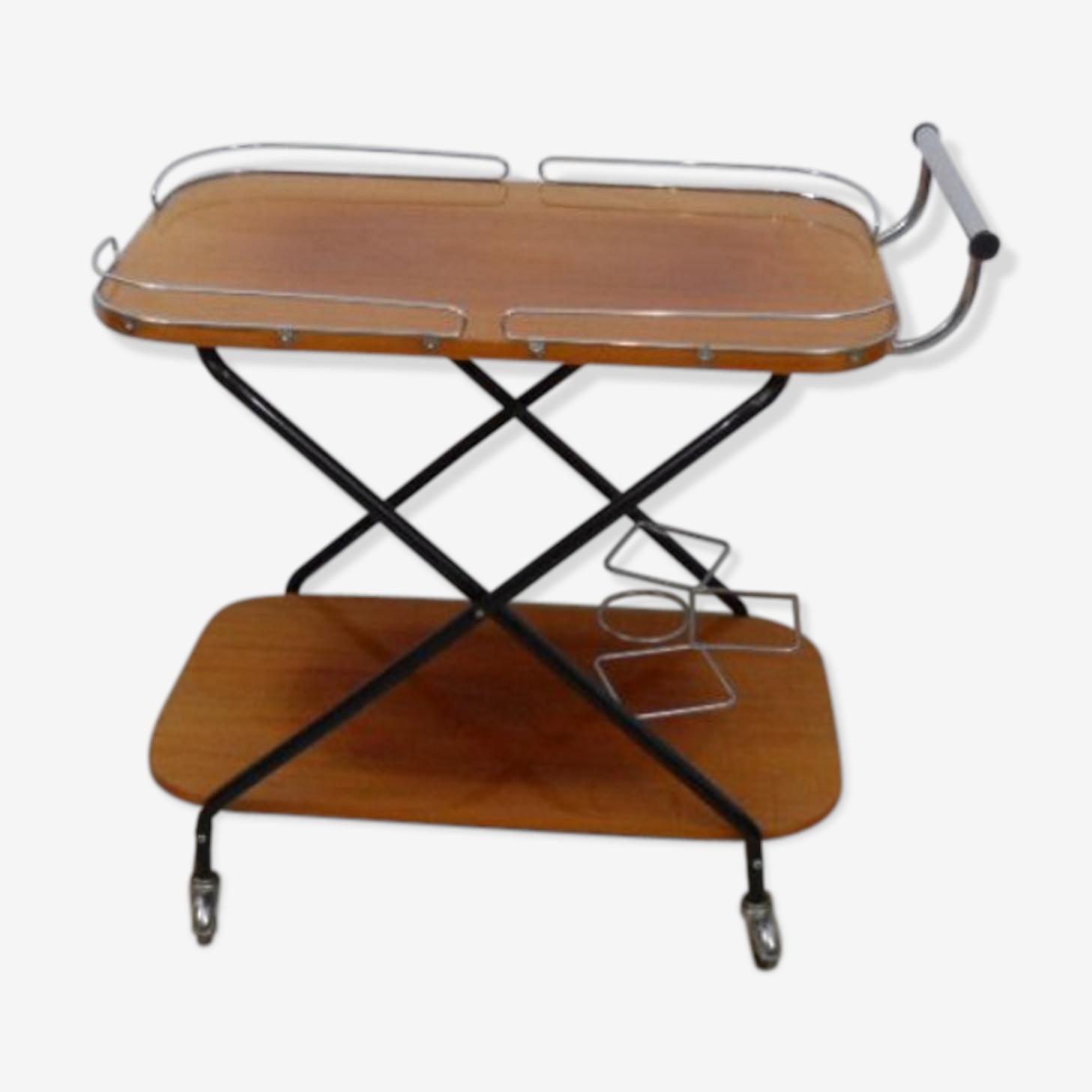 Desserte bar à roulettes années 50-60
