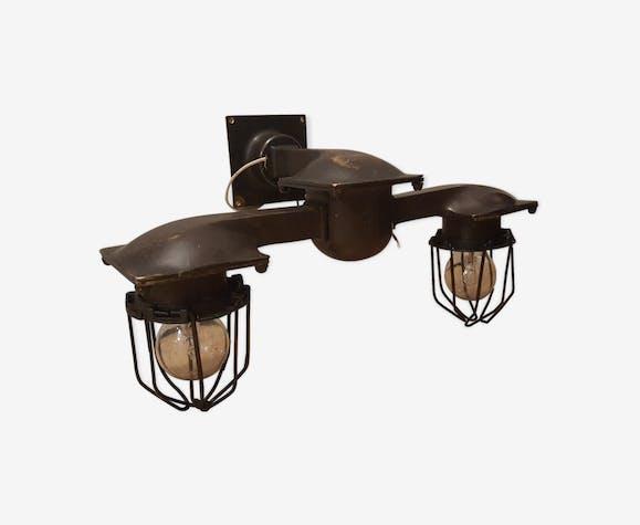 Applique industrielle bronze noir industriel 90xugoq