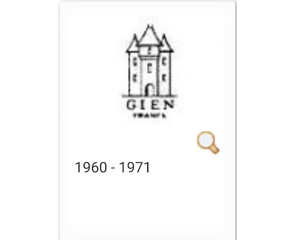 """Service de Gien collection """"Reliéfés"""""""