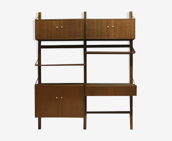 Mid-Century Danish Wall Unit with Desk, 1960s