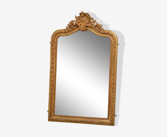 Gilded wall mirror 146x90cm