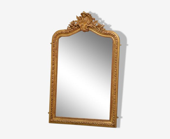 Miroir mural doré 146x90cm