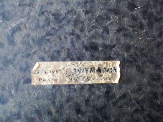 Pouf en skaï cigare avec rangement, années 60
