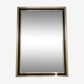 Miroir en laiton design des années 60 - 46 x 65 cm