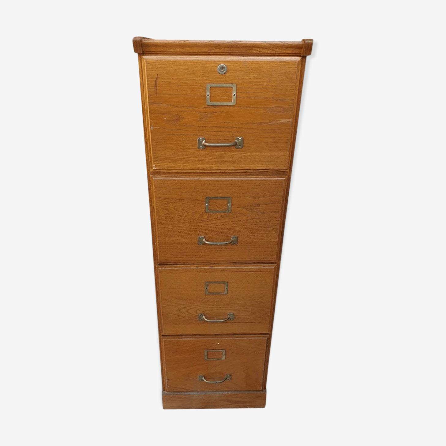 Meuble classeur à tiroirs en bois ancien