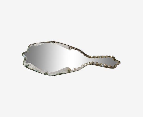 Miroir à main biseauté 30x12cm