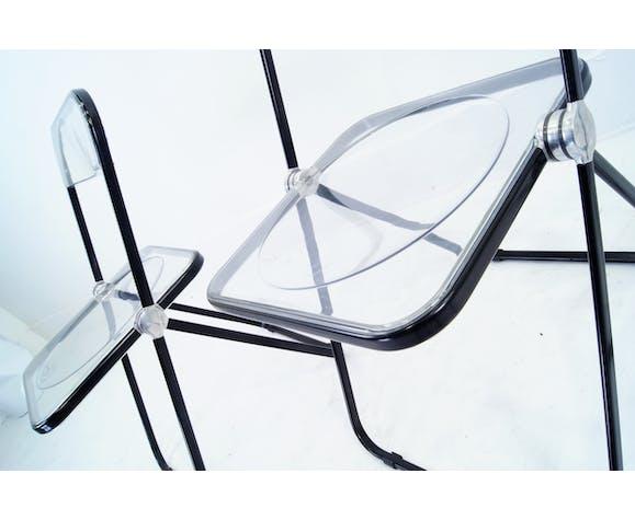 Set of 3 Plia chairsGiancarlo Piretti for Castelli