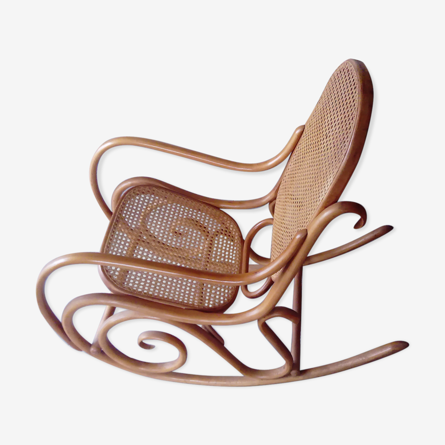 Rocking-chair avec cannage