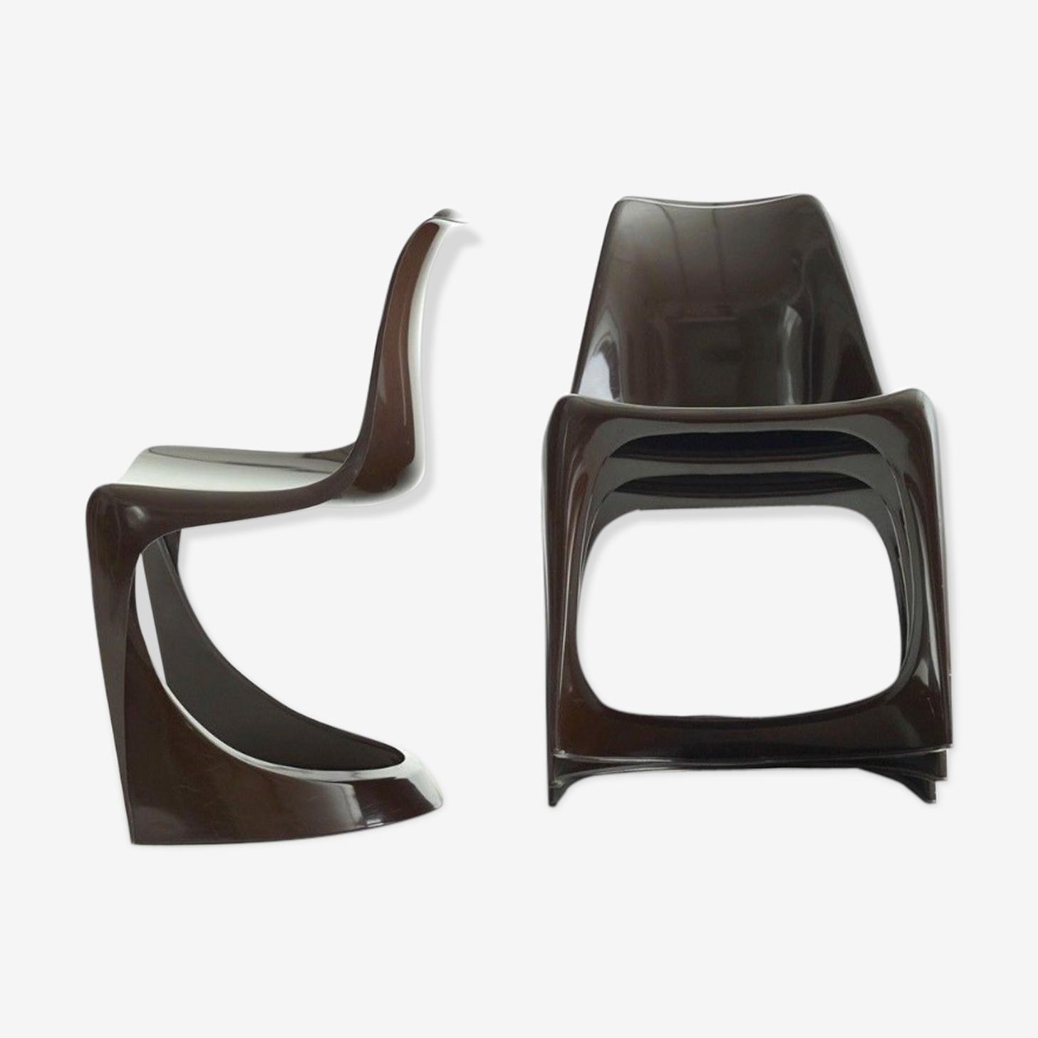 """Lot de 4 chaises """"cado"""" - modèle 290 - Steen Ostergaard"""