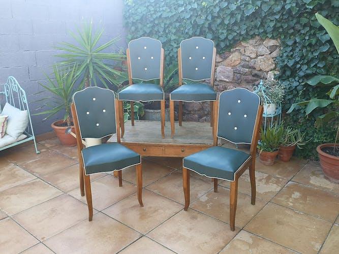 Lot de chaises années 50