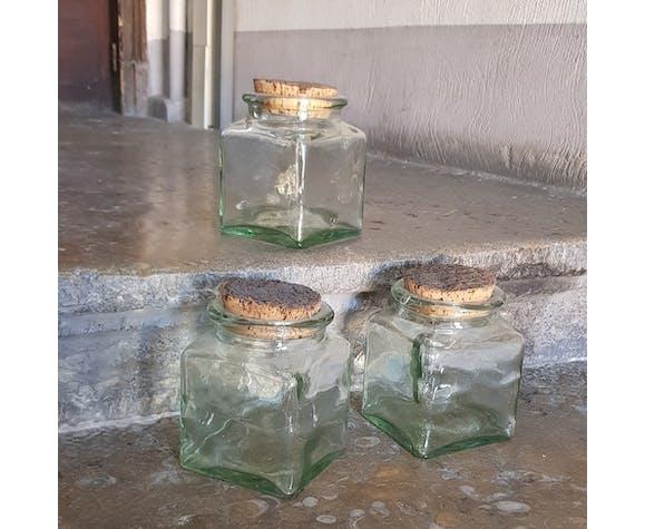 Glass cork jars