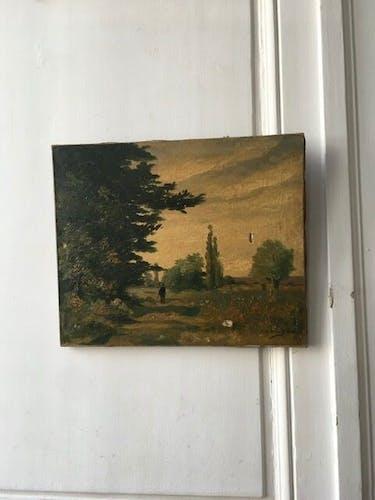 Peinture paysage huile debut XX ieme