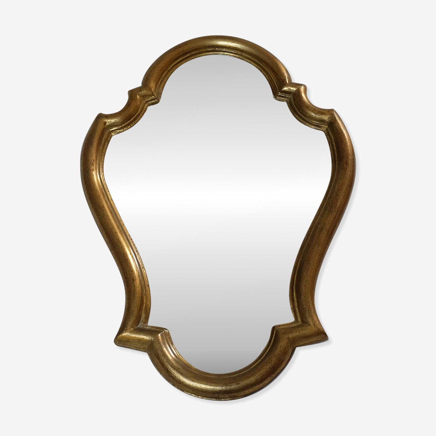 19th Golden mirror 49x34cm