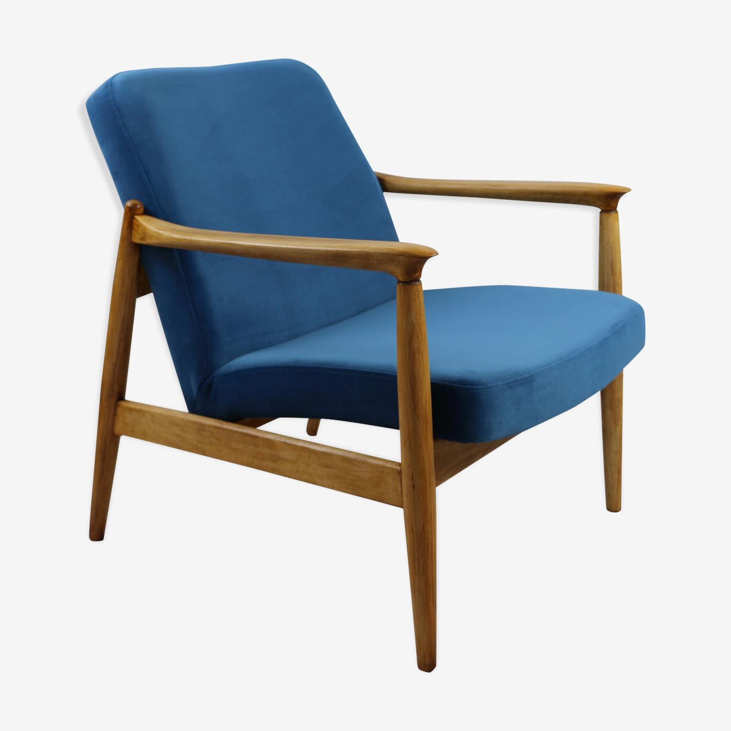 Blue armchair by Edmund Homa, 1970