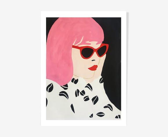 Lola - acrylique peinture sur papier de HelloMarine