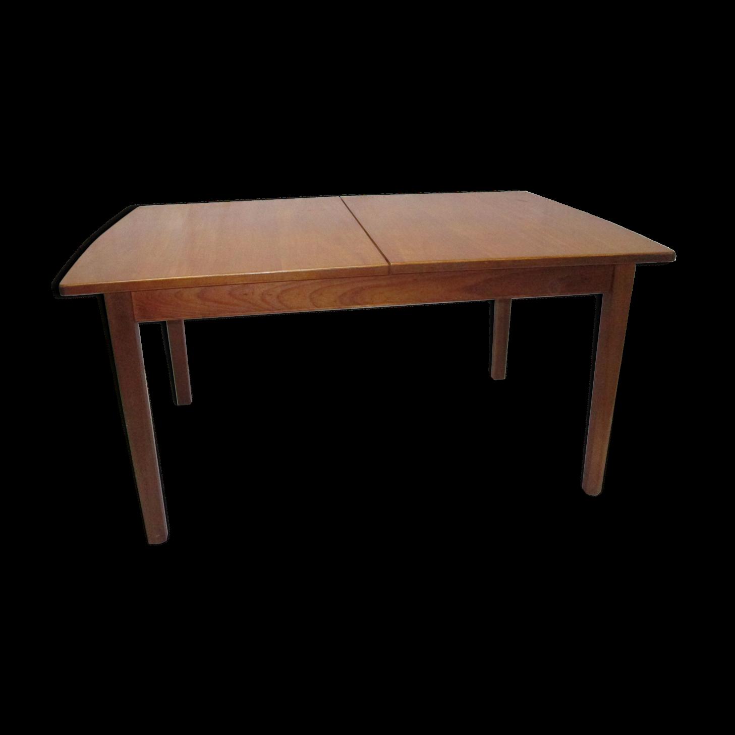 elegant stunning fabulous gallery of table de salle manger teck une allonge with table de salle. Black Bedroom Furniture Sets. Home Design Ideas