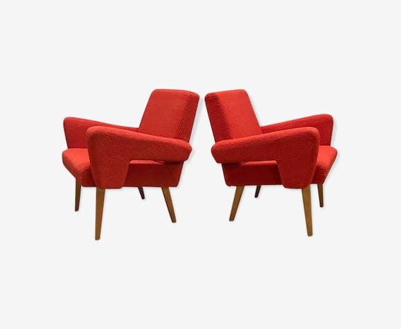 Lot de 2 fauteuils tchèque vintage par Tatra