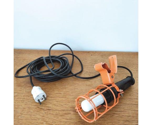 Lampe baladeuse Atrow d'atelier orange