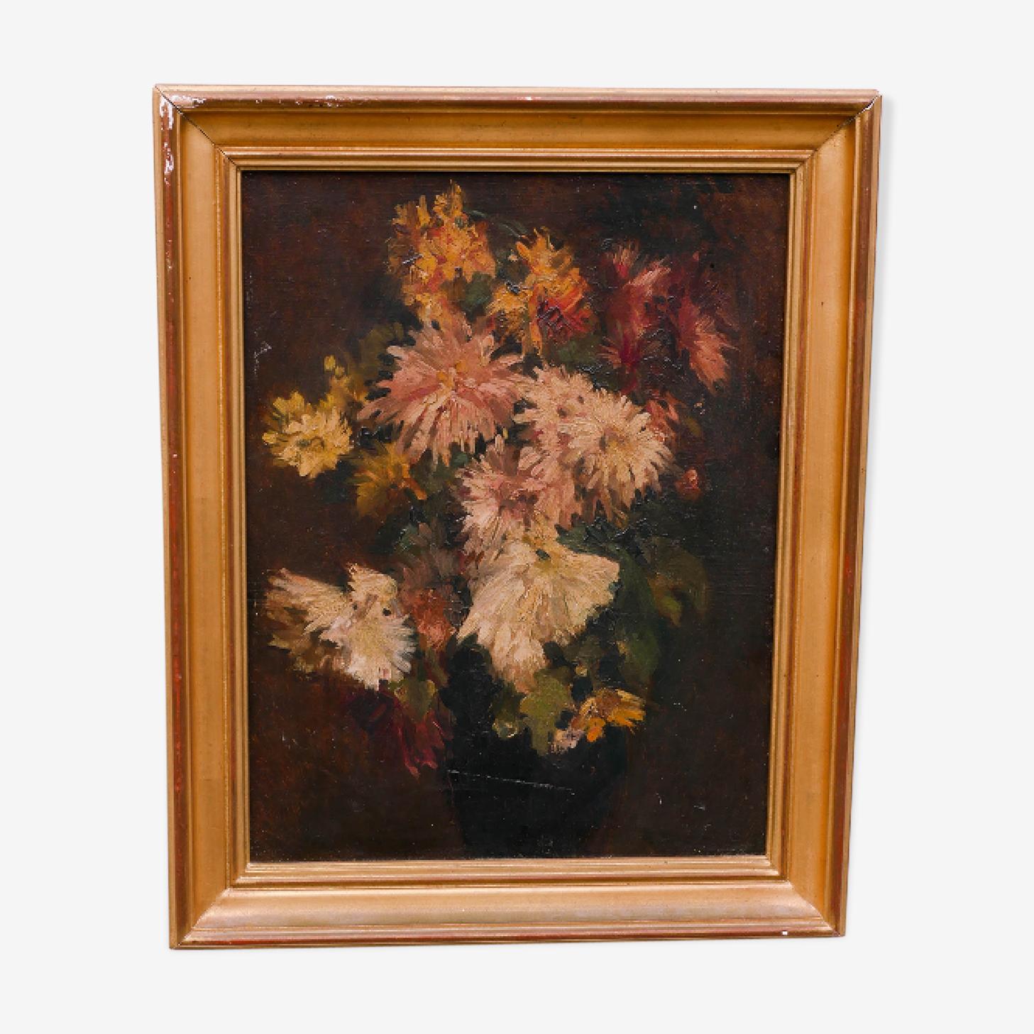 Peinture à l'huile composition florale