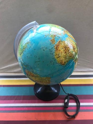 Ancien globe terrestre made in Italy vintage