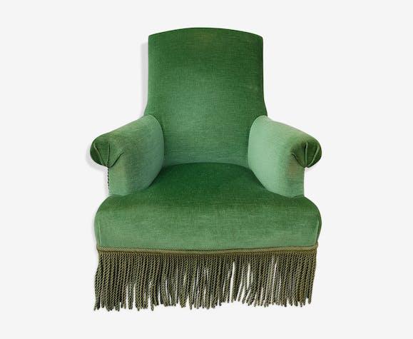 ancien fauteuil bergre vert meraude - Fauteuil Ancien Bergere