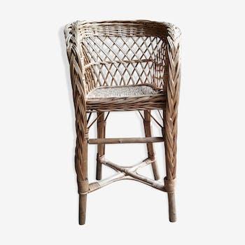 High chair child wicker