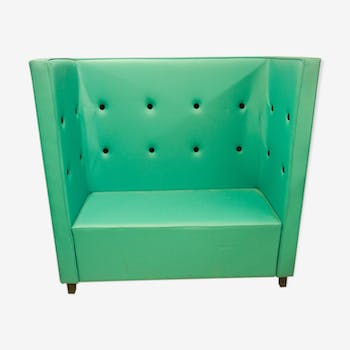 "Seat ""Scala"" turquoise velvet leather black"