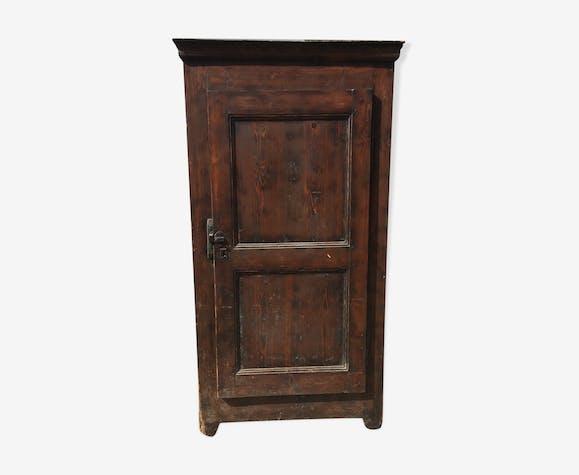 Bonnetière rustique en sapin armoire parisienne 1 porte