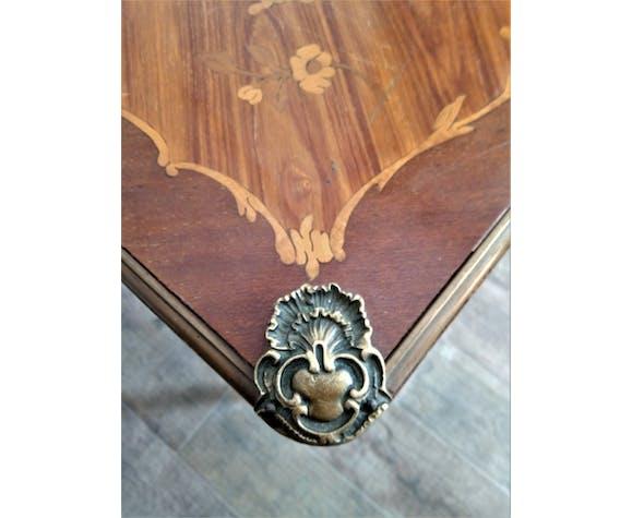 Table à jeux en marqueterie Louis XV début XXème
