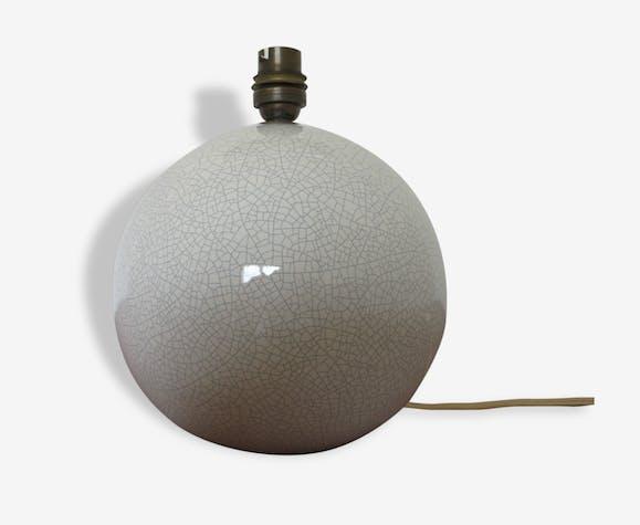 pied de lampe boule en c ramique craquel e ann es 50 60 c ramique porcelaine fa ence. Black Bedroom Furniture Sets. Home Design Ideas