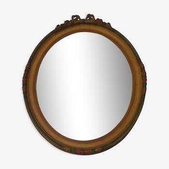 Golden 50x62cm wooden mirror