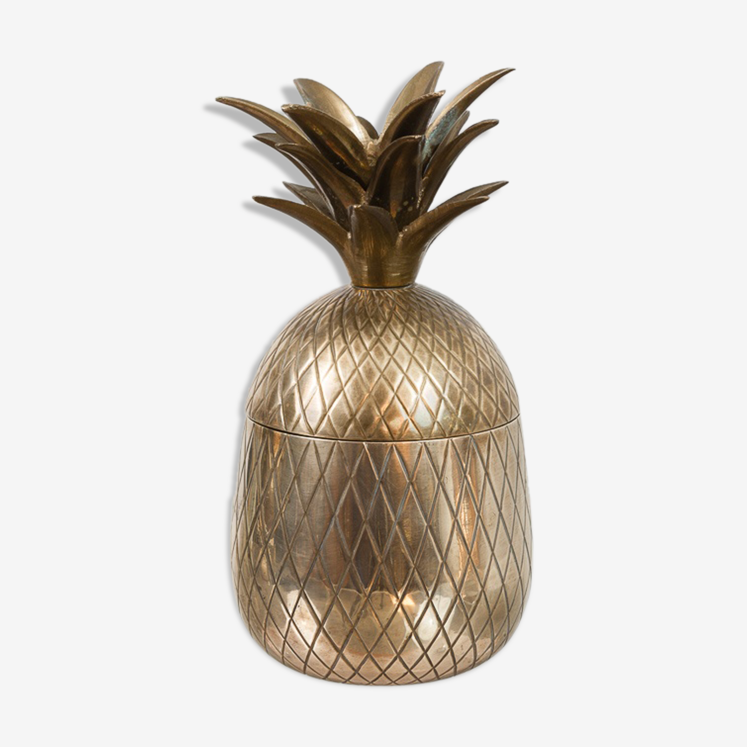Medium Sized Vintage Hollywood Brass Pineapple