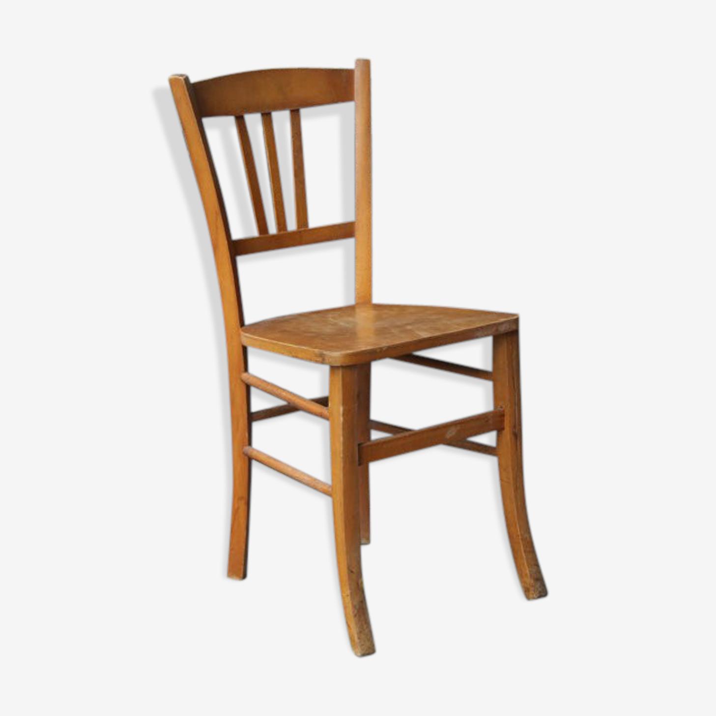 Chaise de bistro bois blond