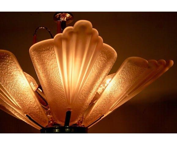 Lustre en verre de Murano de cru