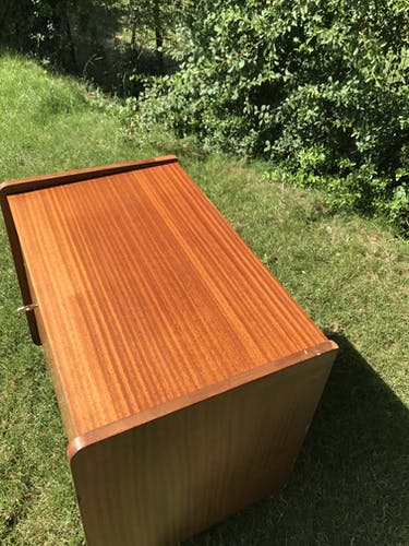 Vintage mahogany bar