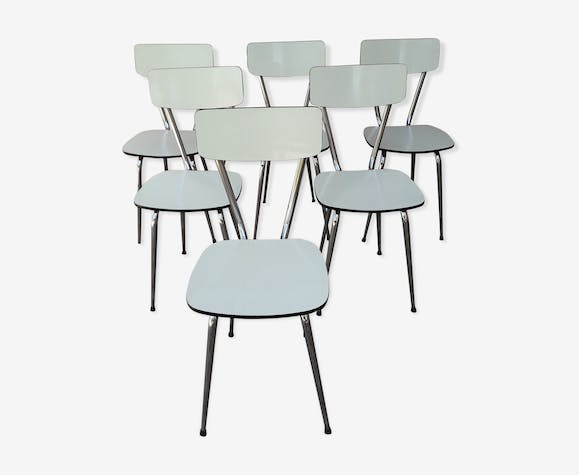 Chaises formica blanc