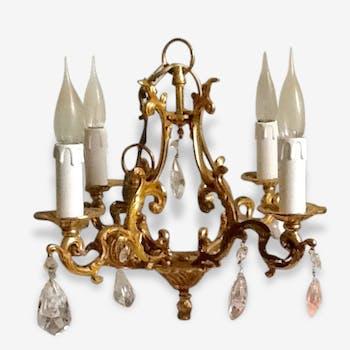 Chandelier bronze pendants Cages