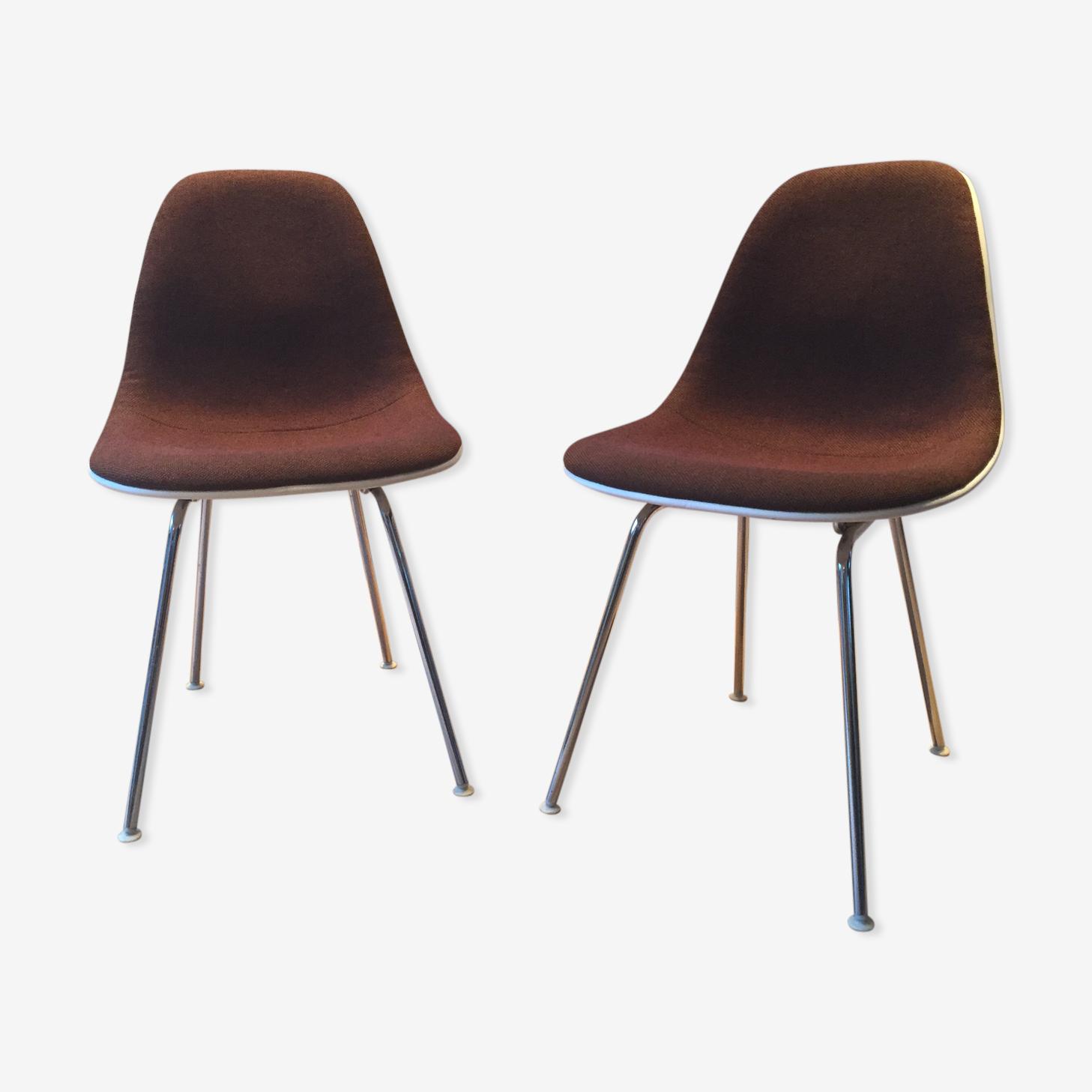 Paire de chaises Eames DSX édition Herman Miller